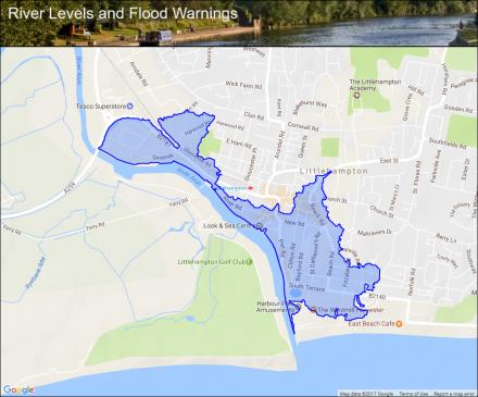 Littlehampton East Bank Flood alerts and warnings the UK River