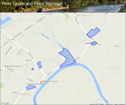 River Trent At Fiskerton Mill Including Rolleston Fields Gorse - River trent map