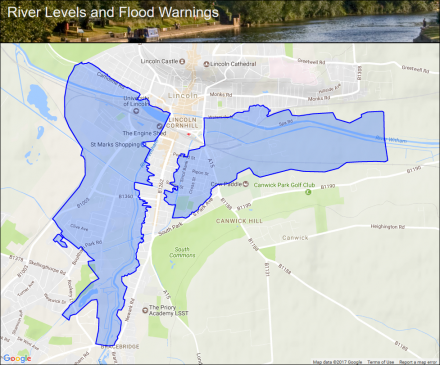 Watercourses in the Lincoln Area Flood alerts and warnings the